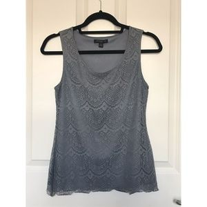 Banana Republic | Gray Lace Tank Top